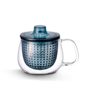 Tisanière en verre Unimug bleue
