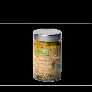 Moutarde Bio au Fromage de chèvre et noix Bio à l'huile d'olive