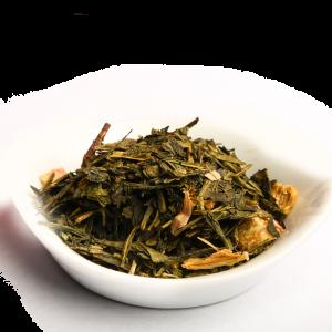 thé vert Fraise Rhubarbe
