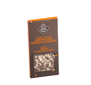 Tablette Grand Lait 45% croustillant chocolat, caramel .